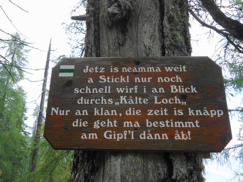 Foto: Günter Siegl / Wander Tour / Kobesnock / 24.10.2016 20:58:15