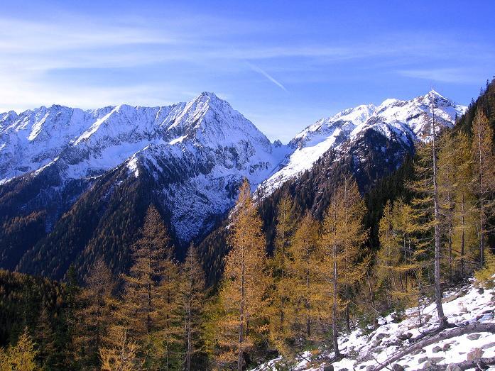 Foto: Andreas Koller / Wander Tour / Lanschitzseen und Hasenhöhe (2446 m) / Im Aufstieg zur Bacher Alm mit Blick zum Kasereck (2740 m) / 30.10.2007 04:43:50