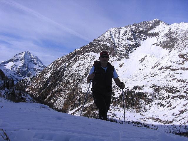 Foto: Andreas Koller / Wander Tour / Lanschitzseen und Hasenhöhe (2446 m) / Aufstieg zum Mittleren Lanschitzsee mit Hochgolling (2863 m) im Hintergrund / 30.10.2007 04:41:36