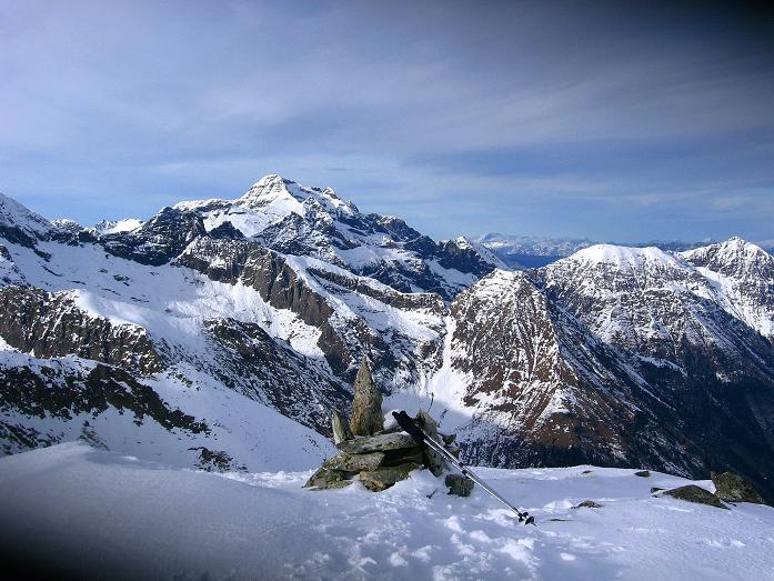 Foto: Andreas Koller / Wander Tour / Lanschitzseen und Hasenhöhe (2446 m) / Blick vom Gipfel nach NW zur Hochwildstelle (2747 m) / 30.10.2007 04:36:43