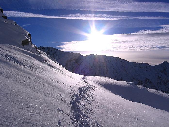 Foto: Andreas Koller / Wander Tour / Lanschitzseen und Hasenhöhe (2446 m) / Schnee im Oktober 2007 mit Blick nach S / 30.10.2007 04:32:45