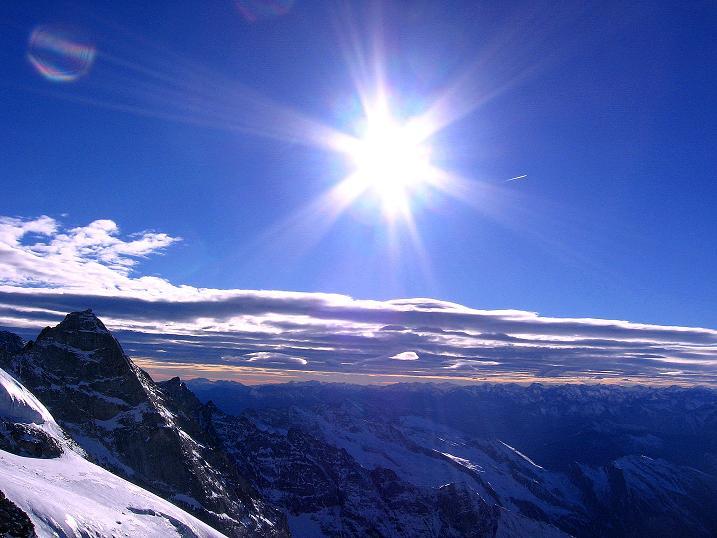 Foto: Andreas Koller / Ski Tour / Tuxer Eingehtour auf zwei Dreitausender (3288 m) / Blick vom Großen Kaserer nach S in die Dolomiten / 03.11.2007 22:20:59