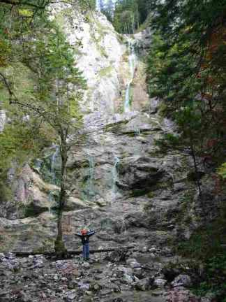 Foto: Ötschertrekker / Schneeschuh Tour / Mit Schneeschuhen auf den Ötscher / Beim Schleierfall / 16.09.2008 16:08:05