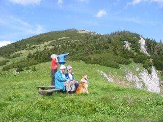 Foto: Ötschertrekker / Schneeschuh Tour / Mit Schneeschuhen auf den Ötscher / Panoramafernrohr am Hüttenkogel (20 min. vom Ötscherschutzhaus) / 16.09.2008 16:10:07