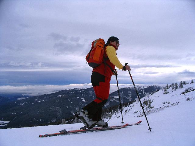 Foto: Andreas Koller / Ski Tour / Kreischberger Kammtour (2172m) / Anstieg zur Rosenkranzhöhe / 11.12.2007 03:17:28