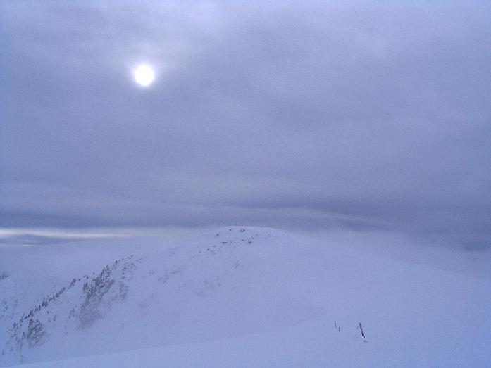 Foto: Andreas Koller / Ski Tour / Kreischberger Kammtour (2172m) / Unwirtlicher Nebel am Kirbisch / 11.12.2007 03:16:52