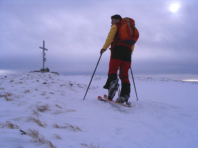Foto: Andreas Koller / Ski Tour / Kreischberger Kammtour (2172m) / Die letzten Meter auf den Kirbisch / 11.12.2007 03:16:34