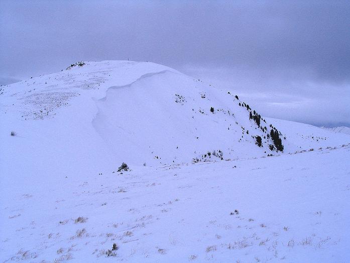 Foto: Andreas Koller / Ski Tour / Kreischberger Kammtour (2172m) / Rückblick auf den Kirbisch / 11.12.2007 03:15:26
