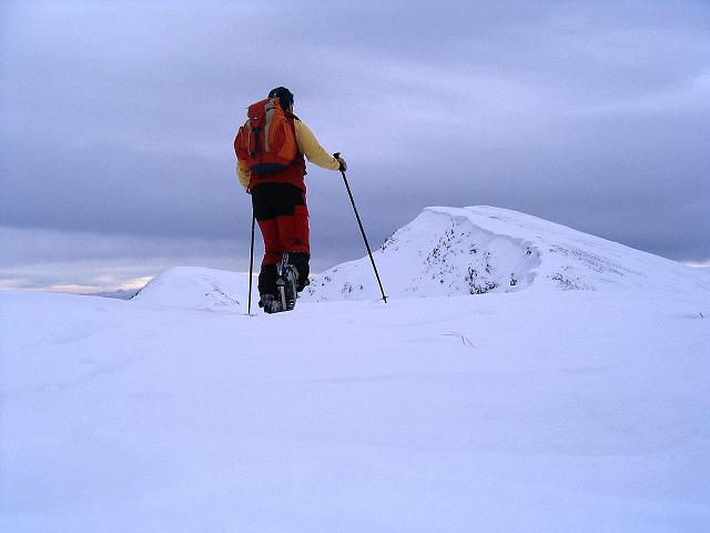 Foto: Andreas Koller / Ski Tour / Kreischberger Kammtour (2172m) / Im Aufstieg zum Goldachnock mit Blick auf die Prankerhöhe / 11.12.2007 03:14:13