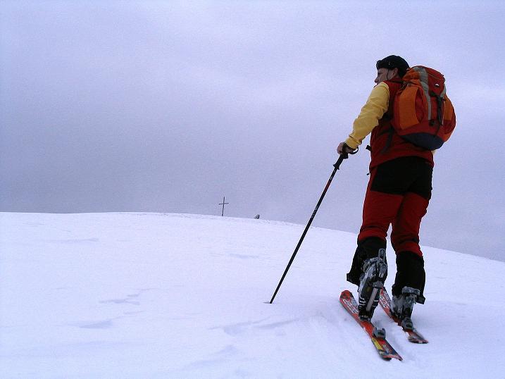 Foto: Andreas Koller / Ski Tour / Kreischberger Kammtour (2172m) / Die letzten Meter auf die Prankerhöhe / 11.12.2007 03:10:46