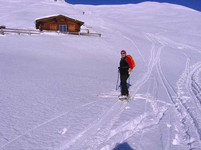 Foto: Andreas Koller / Ski Tour / Geheimtipp Zanderstal und Hinteres Kreuzjoch (2853m) / Bei der Fließer Stieralpe (2290 m) / 18.12.2007 22:02:17