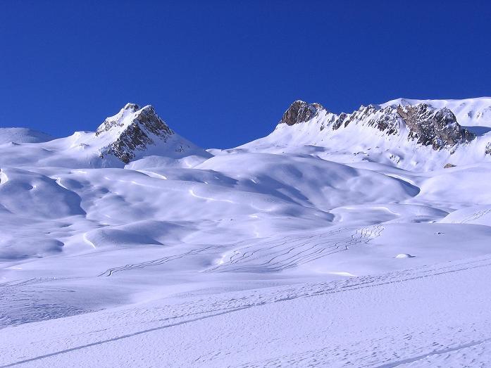 Foto: Andreas Koller / Ski Tour / Geheimtipp Zanderstal und Hinteres Kreuzjoch (2853m) / Nach W zum Oberen Malfragkopf (2776 m) und zum Matthäuskopf (2734 m) / 18.12.2007 22:00:59