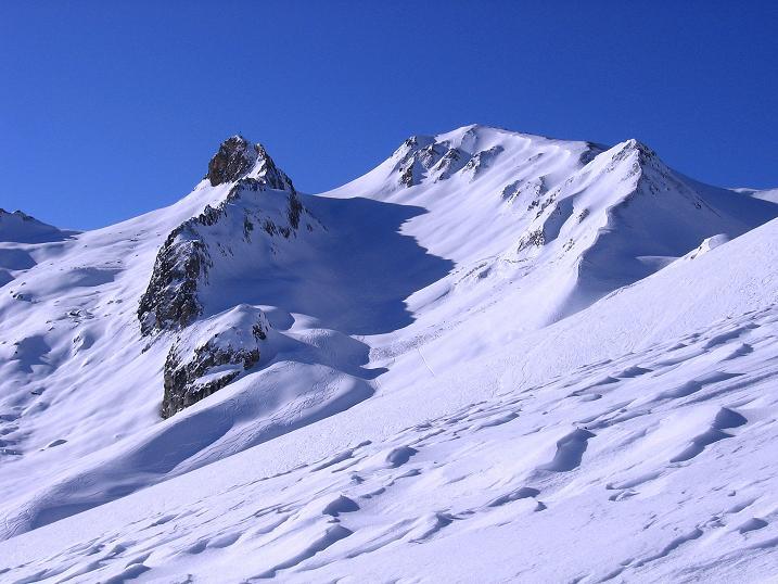Foto: Andreas Koller / Ski Tour / Geheimtipp Zanderstal und Hinteres Kreuzjoch (2853m) / Kombinationsmöglichkeit von der Fließer Stieralpe: Matthäuskopf (2734 m) und Oberer Malfragkopf (2776 m) / 18.12.2007 21:59:57