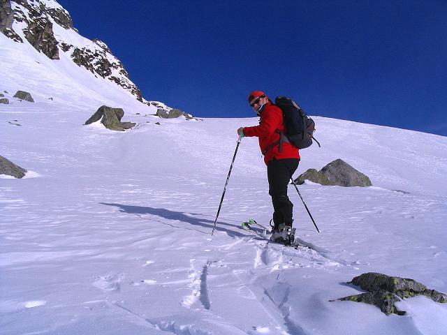 Foto: Andreas Koller / Ski Tour / Durch das Weißenbachtal auf den Kreuzkogel (2686m) / Anstieg im oberen Drittel der Route / 24.12.2007 05:07:34