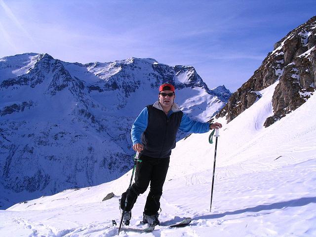 Foto: Andreas Koller / Ski Tour / Durch das Weißenbachtal auf den Kreuzkogel (2686m) / Anstieg unter den Wänden des Kreuzkogels / 24.12.2007 05:06:13