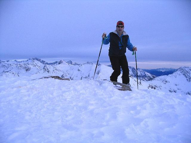 Foto: Andreas Koller / Ski Tour / Durch das Weißenbachtal auf den Kreuzkogel (2686m) / Am Kreuzkogel / 24.12.2007 05:02:06