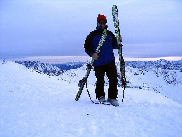 Foto: Andreas Koller / Ski Tour / Durch das Weißenbachtal auf den Kreuzkogel (2686m) / Bereit für die Abfahrt vom Kreuzkogel / 24.12.2007 04:59:49