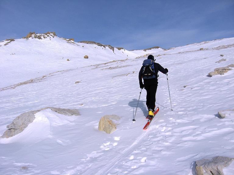 Foto: Andreas Koller / Ski Tour / Piz Surgonda (3197m) - Traumtour über dem Julierpass / Auf dem breiten S-Rücken / 27.12.2007 20:59:46