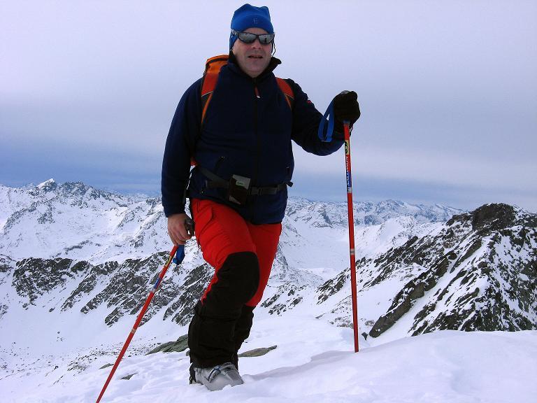 Foto: Andreas Koller / Ski Tour / Piz Surgonda (3197m) - Traumtour über dem Julierpass / Am Piz Surgonda Gipfel / 27.12.2007 20:48:13