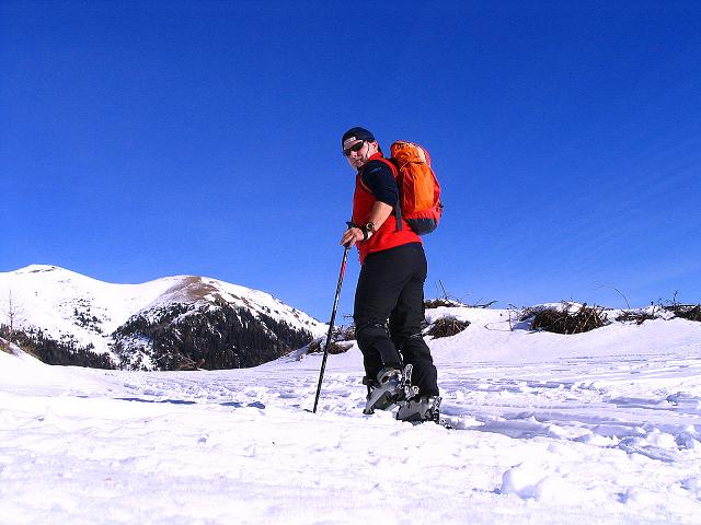 Foto: Andreas Koller / Ski Tour / Aus dem Scharnitzgraben auf den Großhansl (2315m) / Anstieg auf der Forststraße / 29.12.2007 16:55:42