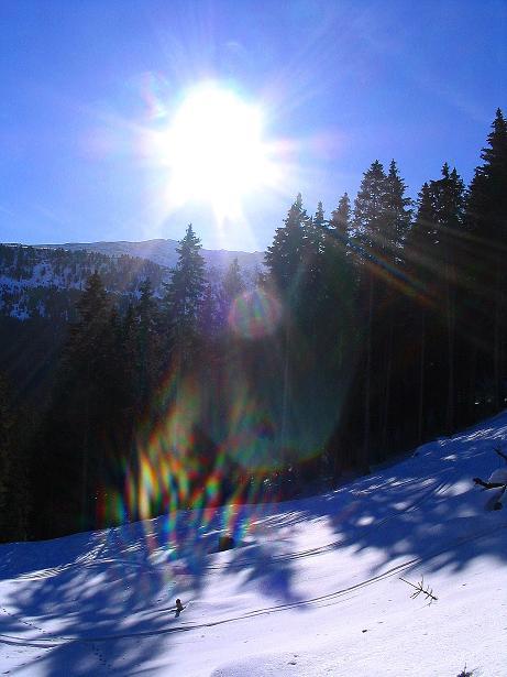 Foto: Andreas Koller / Ski Tour / Aus dem Scharnitzgraben auf den Großhansl (2315m) / 24.12.2008 01:06:36