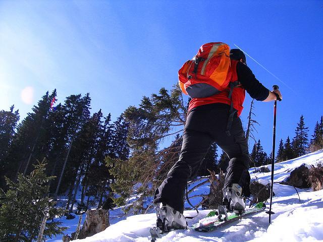 Foto: Andreas Koller / Ski Tour / Aus dem Scharnitzgraben auf den Großhansl (2315m) / Nur kurze steile Waldpassagen / 29.12.2007 16:55:17