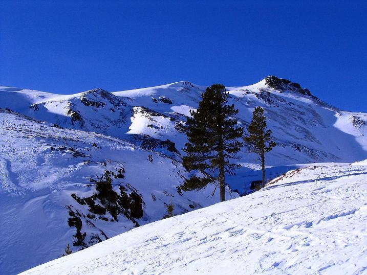 Foto: Andreas Koller / Ski Tour / Aus dem Scharnitzgraben auf den Großhansl (2315m) / Der Großhansl aus dem Weittal / 29.12.2007 16:54:15