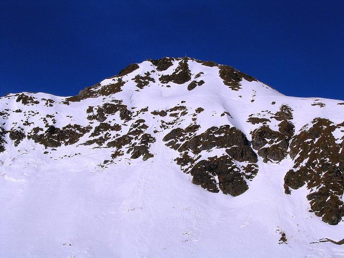 Foto: Andreas Koller / Ski Tour / Aus dem Scharnitzgraben auf den Großhansl (2315m) / Die Südabbrüche des Kleinhansl aus dem Weittal gesehen / 29.12.2007 16:53:23