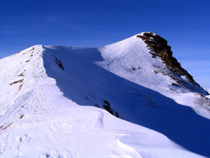 Foto: Andreas Koller / Ski Tour / Aus dem Scharnitzgraben auf den Großhansl (2315m) / Der Großhansl mit seinem Grat / 29.12.2007 16:52:20