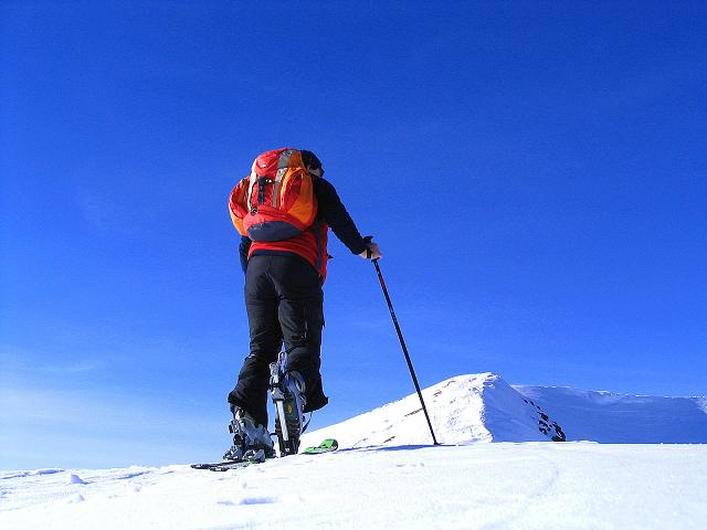 Foto: Andreas Koller / Ski Tour / Aus dem Scharnitzgraben auf den Großhansl (2315m) / Am Gipfelgrat unterwegs / 29.12.2007 16:52:04