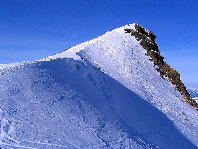 Foto: Andreas Koller / Ski Tour / Aus dem Scharnitzgraben auf den Großhansl (2315m) / Der Gipfelaufbau des Großhansl / 29.12.2007 16:50:36