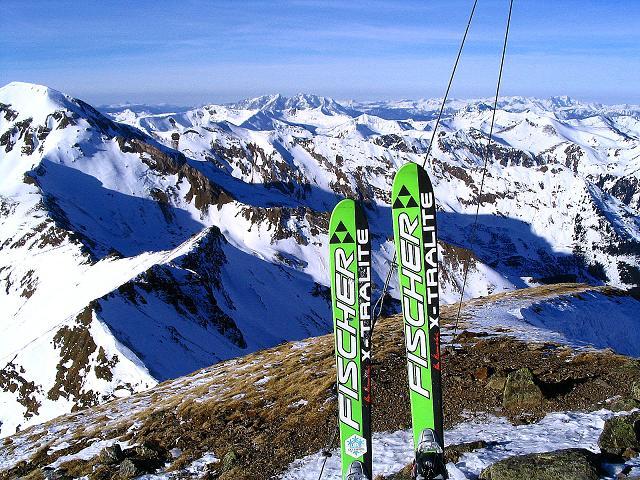 Foto: Andreas Koller / Ski Tour / Aus dem Scharnitzgraben auf den Großhansl (2315m) / Gipfelblick nach NW / 29.12.2007 16:48:46