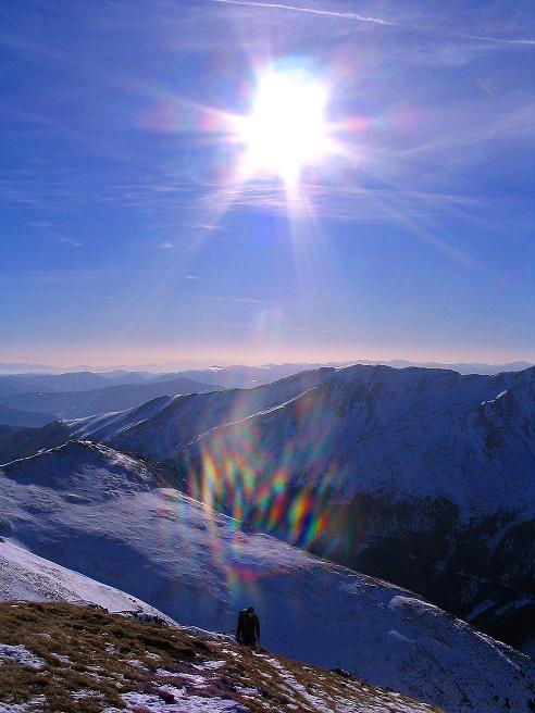 Foto: Andreas Koller / Ski Tour / Aus dem Scharnitzgraben auf den Großhansl (2315m) / Letzter Blick nach S bis hin zu den Julischen Alpen / 29.12.2007 16:45:55
