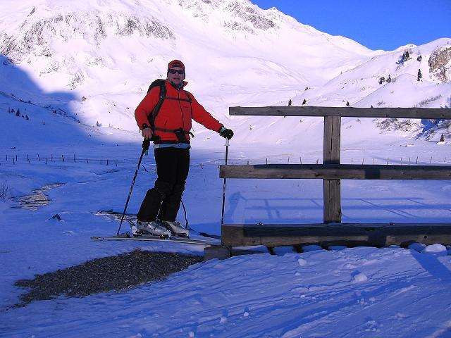 Foto: Andreas Koller / Ski Tour / Hagener Hütte und Greilkopf (2581m) / Über die Brücke des Tauernbachs / 03.01.2008 18:00:31