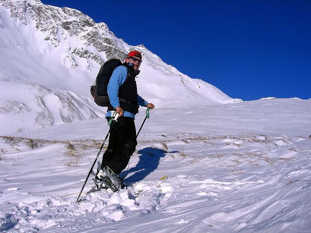 Foto: Andreas Koller / Ski Tour / Hagener Hütte und Greilkopf (2581m) / Im Aufstieg zur Hagener Hütte unterhalb des Gesselkopfes / 03.01.2008 17:58:48