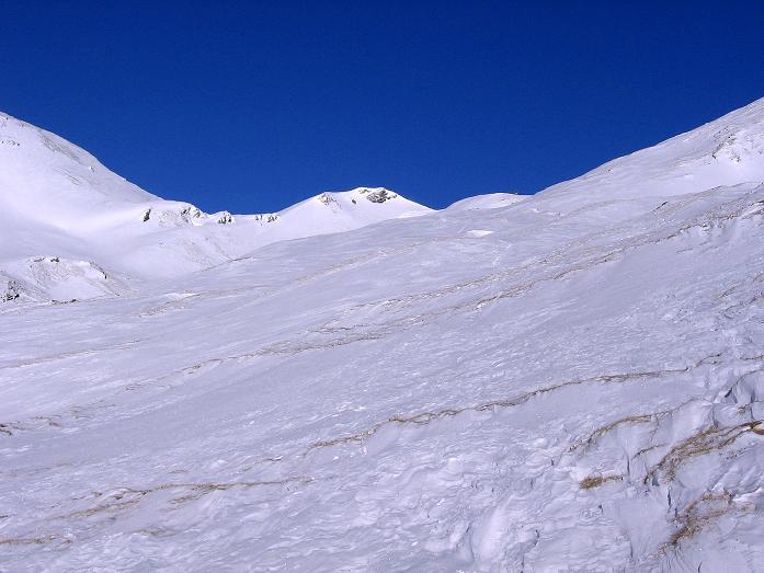 Foto: Andreas Koller / Ski Tour / Hagener Hütte und Greilkopf (2581m) / Die S-seitigen Hänge zur Hagener Hütte / 03.01.2008 17:58:25