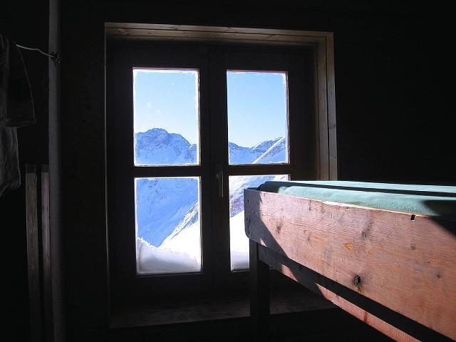 Foto: Andreas Koller / Ski Tour / Hagener Hütte und Greilkopf (2581m) / Blick aus dem Fenster der Hagener Hütte / 03.01.2008 17:53:28
