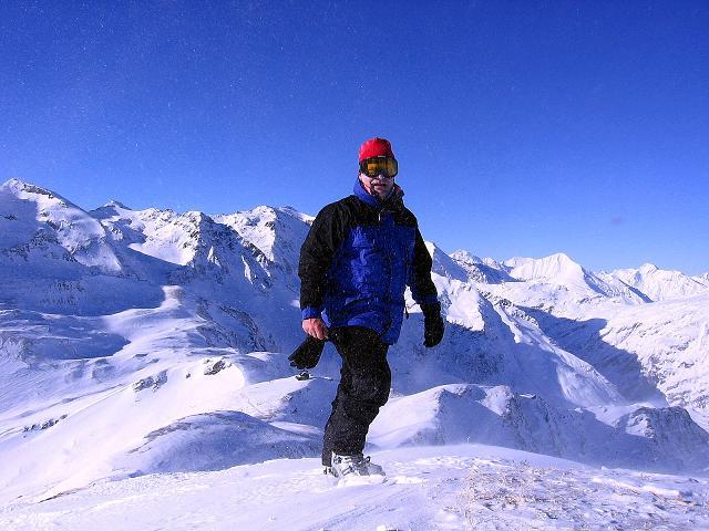 Foto: Andreas Koller / Ski Tour / Hagener Hütte und Greilkopf (2581m) / Am Greilkopf-Gipfel mit Blick nach NW / 03.01.2008 17:49:56