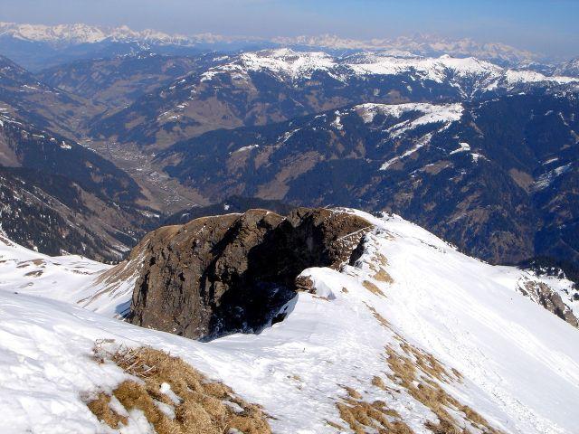 Foto: Manfred Karl / Ski Tour / Über den Frauenkogel zur Badgasteiner Hütte / Gipfelgrat am Frauenkogel / 10.01.2008 21:34:37
