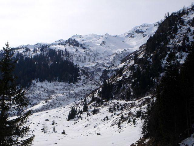 Foto: Manfred Karl / Ski Tour / Über den Frauenkogel zur Badgasteiner Hütte / Unterer Teil der Südostabfahrt vom Gamskarkogel / 10.01.2008 20:51:26
