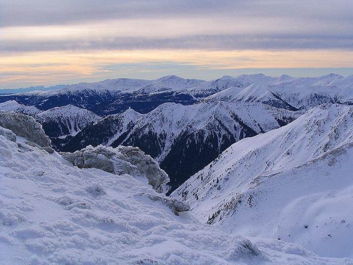Foto: Andreas Koller / Ski Tour / Zwei Gipfel aus dem Gullinggraben (2196 m) / Blick nach S / 21.01.2008 15:49:22