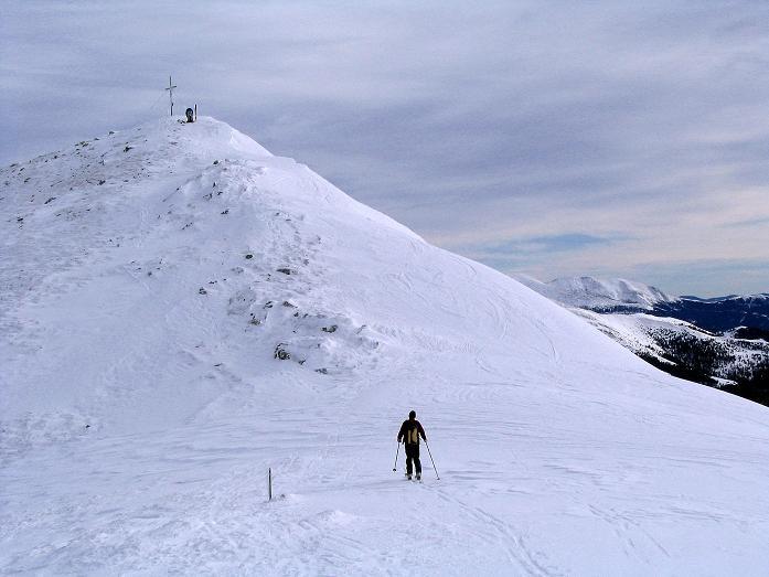 Foto: Andreas Koller / Ski Tour / Zwei Gipfel aus dem Gullinggraben (2196 m) / Der letzte Aufschwung auf den Hochschwung / 21.01.2008 15:47:57