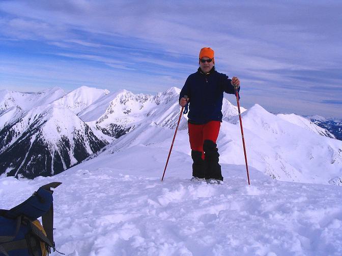 Foto: Andreas Koller / Ski Tour / Zwei Gipfel aus dem Gullinggraben (2196 m) / Blick vom Hochschwung zur Bösenstein-Gruppe / 21.01.2008 15:46:15