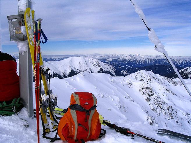 Foto: Andreas Koller / Ski Tour / Zwei Gipfel aus dem Gullinggraben (2196 m) / Am Hochschwung-Gipfel / 21.01.2008 15:45:53