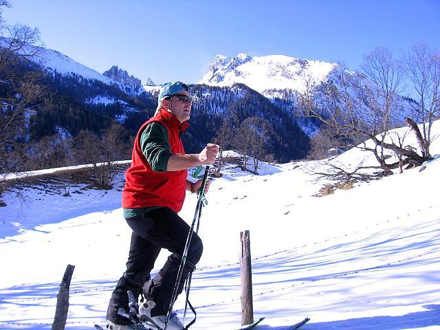 Foto: Andreas Koller / Skitour / Schliererspitze  (2402m) / Aufstieg vom Weiler Wald zur Muhrer Alm / 29.01.2008 01:48:45