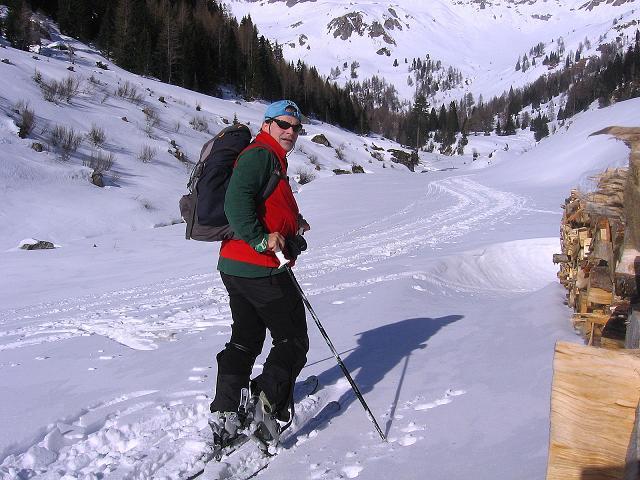Foto: Andreas Koller / Skitour / Schliererspitze  (2402m) / Anstieg zur Muhrer Alm / 29.01.2008 01:47:33