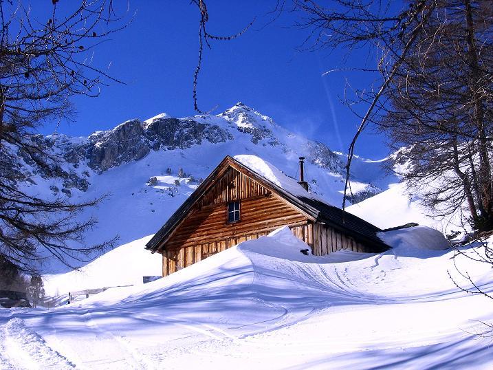 Foto: Andreas Koller / Skitour / Schliererspitze  (2402m) / Die Kösslerhias Alm / 29.01.2008 01:46:01