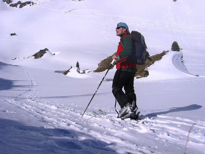 Foto: Andreas Koller / Skitour / Schliererspitze  (2402m) / Anstieg ins Urbankar / 29.01.2008 01:44:20