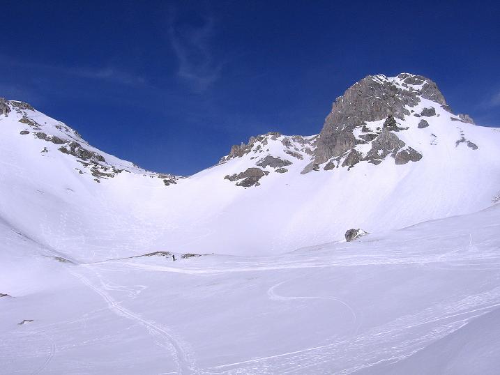 Foto: Andreas Koller / Skitour / Schliererspitze  (2402m) / Blick Richtung Schlierer Scharte / 29.01.2008 01:42:35