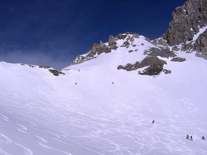 Foto: Andreas Koller / Skitour / Schliererspitze  (2402m) / Unterhalb der Schlierer Scharte im Urbankar / 29.01.2008 01:41:25